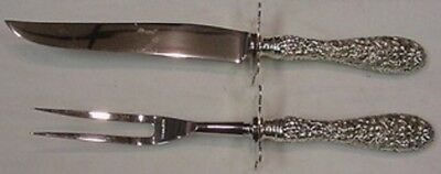 """Rose by Stieff Sterling Silver Steak Carving Set 2-piece 9 3/4"""""""