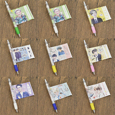 1pc BTS EXO Ballpoint Pen with Cute Photo Plastic School Stationery Korea Gifts