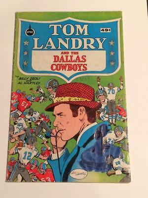 Tom Landry and the Dallas Cowboys spire comics green cover 1970's GD/VG