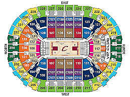 (2) Tickets Lower Level- Cleveland Cavs Cavaliers  vs San Antonio Spurs 2/25