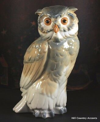 """NAO By LLADRO """"EAGLE OWL"""" #712G/M - RETIRED 1991 - **MINT**"""