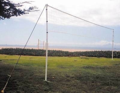 Adjustable Power Volleyball Net in White & Yellow [ID 4693]