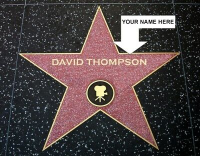 Personalized Hollywood Walk Of Fame Star Photo Large 11X14 Your Name On The Star