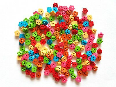 80 pcs Cute Cherry Blossom Flower Buttons mix bright colors