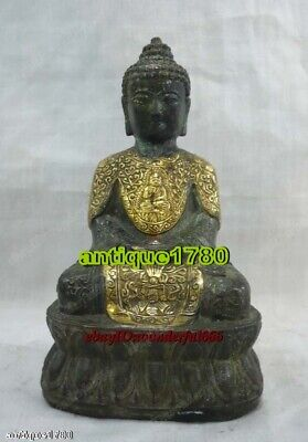 Ancient Bronze Antique Style Preeminent Statue Buddha