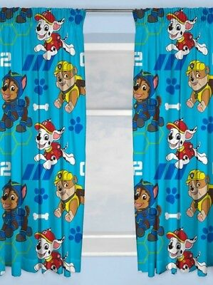 """66""""x54"""" Curtains Paw Patrol SPY Blue Yellow Chase Marshall Rubble"""