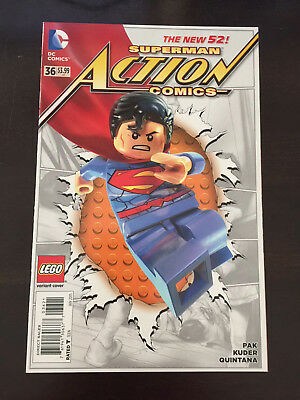 Action Comics #36 2015 DC Lego Variant NM 9.4 Unread Superman