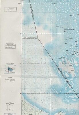 1967 Lake Chad Nigeria Military Joint Operations Map 74 x 57 cm.    A4.892