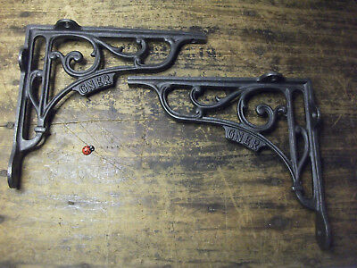 large pair of cast iron brackets -antique style- Great North Eastern Railway