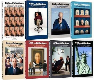 Curb Your Enthusiasm: Complete Series Season 1-8 DVD Set 1 2 3 4 5 6 7 8 New