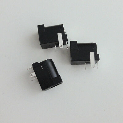 5pcs DC Power Jack Female Socket (2.5 x 5.5mm) PCB Mount Right Angle Connector