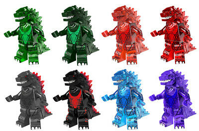Gray Building Toys Godzilla Sci-fi Monster Lizard Space Minifigure Frost Blue
