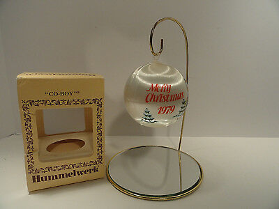Hummelwerk Co-Boy Satin 1979 Christmas Ornament