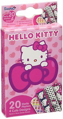 20x HELLO KITTY KIDS GIRLS STERILE PLASTERS 4 CUTE DESIGNS(76mmx19mm) FREE POST