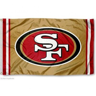 San Francisco 49Ers (Gold) Flag 3'X5' Nfl Logo Banner: Fast Free Shipping