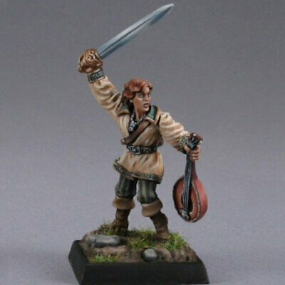 ALFRED REDLUTE BARD - Reaper Dark Heaven Legends 02186 - Unpainted