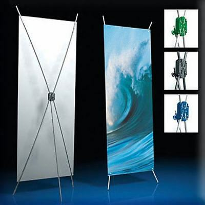 "X Banner Stand 24"" x 63"" Free Graphic Print Trade Show Display Free Bag Pop Up"