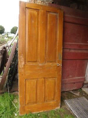 Antique Grain Painted Raised Panel Door 79 1/2 x 33 1/4