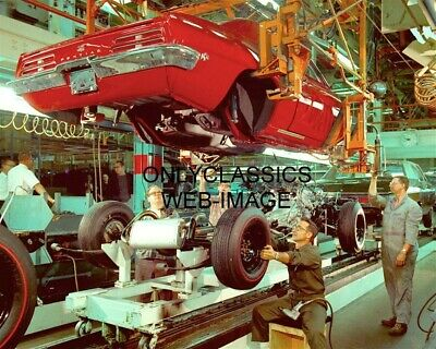 1969 Pontiac Firebird Gm Assembly Plant Photo General Motors Workers Muscle Car