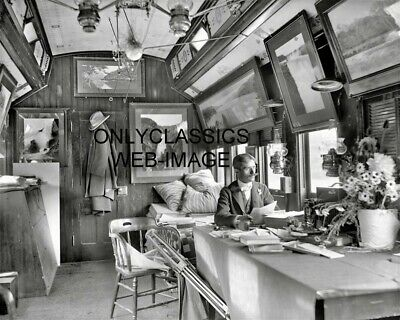 1902 RAILROAD TRAIN CAR FRAMED ART 8x10 PHOTO Assistant to William Henry Jackson