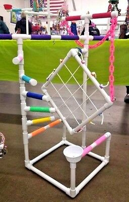 Tall Climber PVC Parrot Perch  Stand  Play Gym   **FREE SHIPPING!**