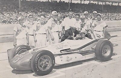 Indianapolis 500 Winner PARNELLI JONES Signed Indy Auto Race Photo Card
