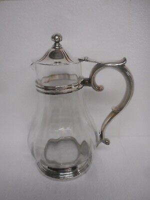 New York Central Railroad Silver And Glass Water Pitcher