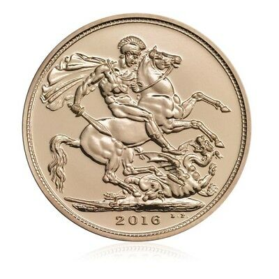NIB • THE ROYAL MINT 22K Solid Gold 2016 Sovereign Coin 7.988g DISCONTINUED