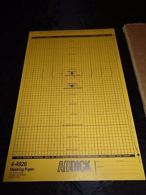 """Vintage AB Dick Offset Masking Paper Approx. 100 Sheets 10 5/16"""" x 16"""" #4-4926"""