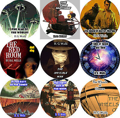 Lot of 10 / H. G. WELLS / Mp3 (READ) CD Audiobooks / SCIENCE FICTION SCI-FI