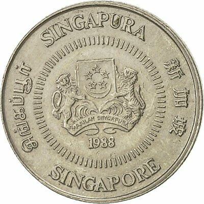 [#427796] Singapore, 10 Cents, 1988, British Royal Mint, EF(40-45)