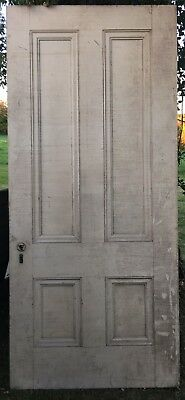 "Wood door solid wood 39-5/8""x88-3/4"" vintage, antique architectural salvage."