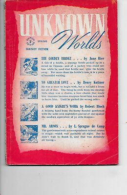 Unknown Worlds Fantasy Fiction Spring 1949