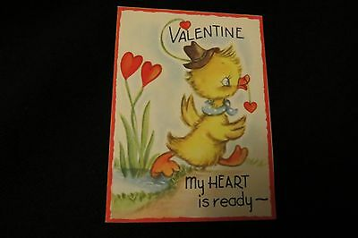 Vintage DUCK Valentine card c. 1940s by: Doubl-glo