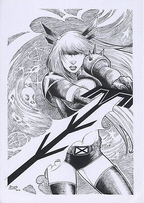 MARVEL Comics MAGIK Original Art X-MEN RUSSIAN Colossus SORCERESS MUTANT Ilyana