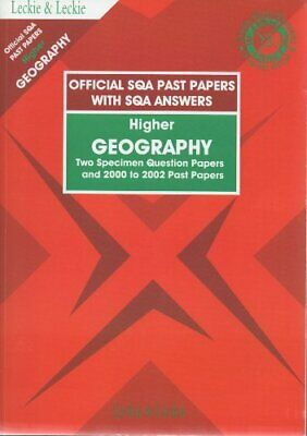 SQA PAST PAPERS IN HIGHER GEOGRAPHY (Official SQA past... by Not Known Paperback