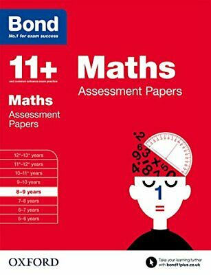 Bond 11+: Maths Assessment Papers: 8-9 years by Bond 11+ Book The Cheap Fast