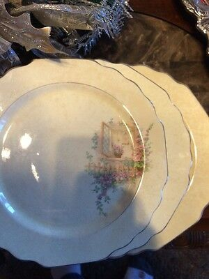Lovely Vintage Lido Canary tone 3 Piece 10inch Dishes