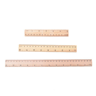 Double Side Wooden Ruler Wood Carpenter Inch Scales & Metric Scales Tools FT