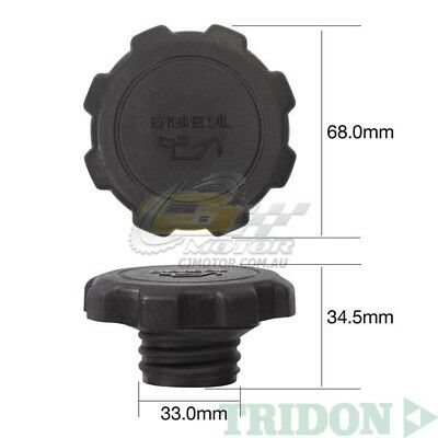 TRIDON OIL CAP FOR Toyota Hiace Diesel KDH201 Turbo 01//06-06//11 4 3.0L