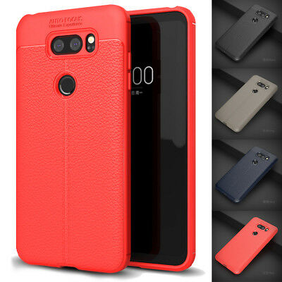 Premium Shockproof Soft PU Leather TPU Rubber Gel Back Case For LG V30/G6/G6 Pro