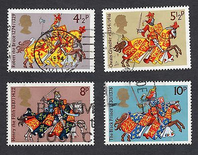 1974 Medieval Warriors SG 958 to 961 set Very Good Used R6774