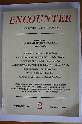 Encounter magazine 1953 vol 1 no 2 + articles by W B Yeats and Arthur Koestker
