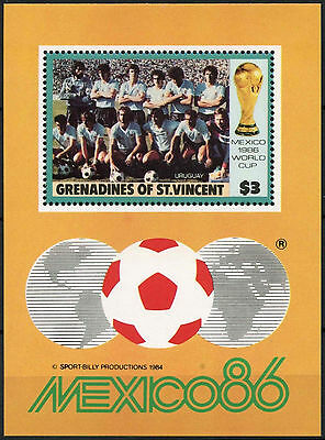 Grenadines Of St. Vincent 1986 $3 World Cup Football MNH M/S #D7396