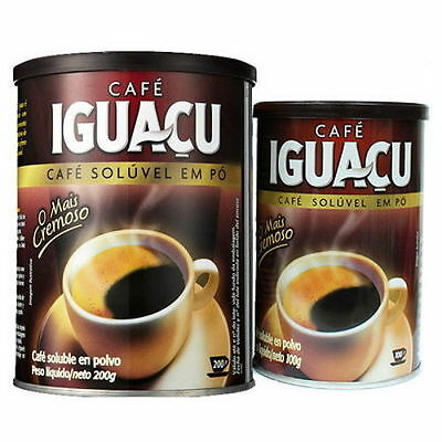 BIGSALE IGUACU Dried Instant-Coffee Powder From Brazil 200g x 1 in Can-tin veesa