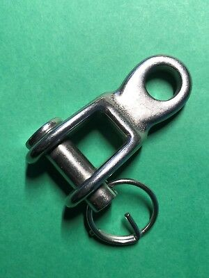 """Stainless Steel 316 Rigging Toggle 3/8"""" (9mm) Marine Grade"""