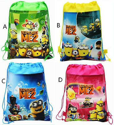 New Despicable Me Minion Environmental Drawstring Bag Kids Toy Backpack Gift Bag