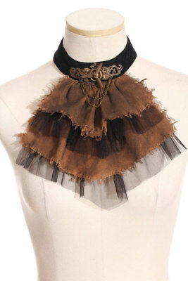 Crop gradient of brown with veiling black steampunk rqbl RQ-BL