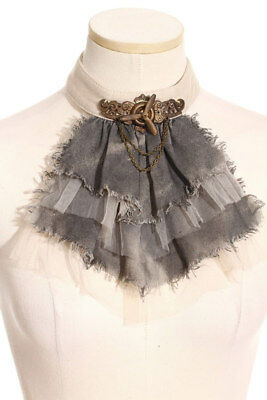 Crop gradient gray with veiling white steampunk rqbl RQ-BL