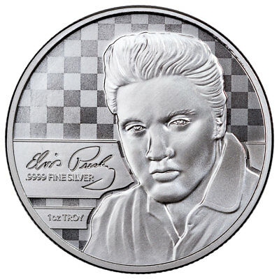 Elvis Presley 1 oz Silver Prooflike Commemorative in OGP SKU51963